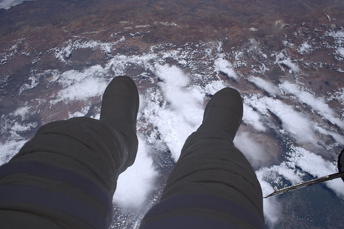 Dangling my feet in space
