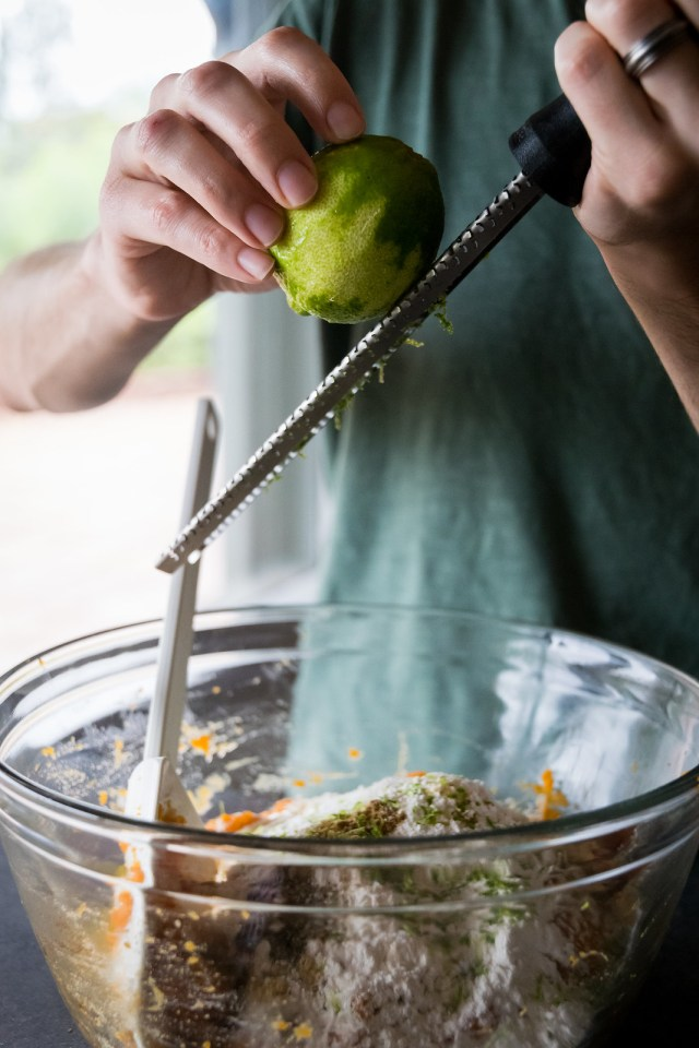 no need to measure, just zest right into the bowl