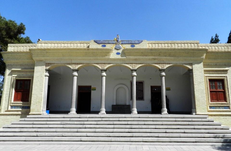 edificio Templo de Fuego de Zoroastro en Yazd Irán 02