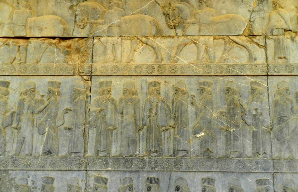 medos y persas escalera este de la Apadana Sala de Audiencias de Darío Persépolis Irán 30