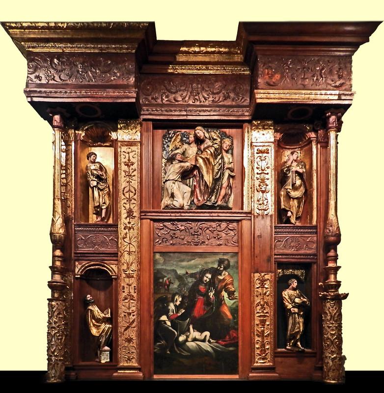 retablo mayor Monasterio San Benito el Real de Alonso Berruguete Museo Nacional Esculturas Colegio San Gregorio Valladolid 02