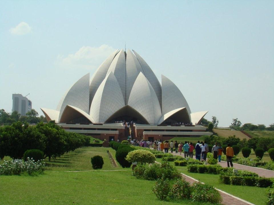 India Delhi Templo del Loto Casa de adoracion Bahai 04