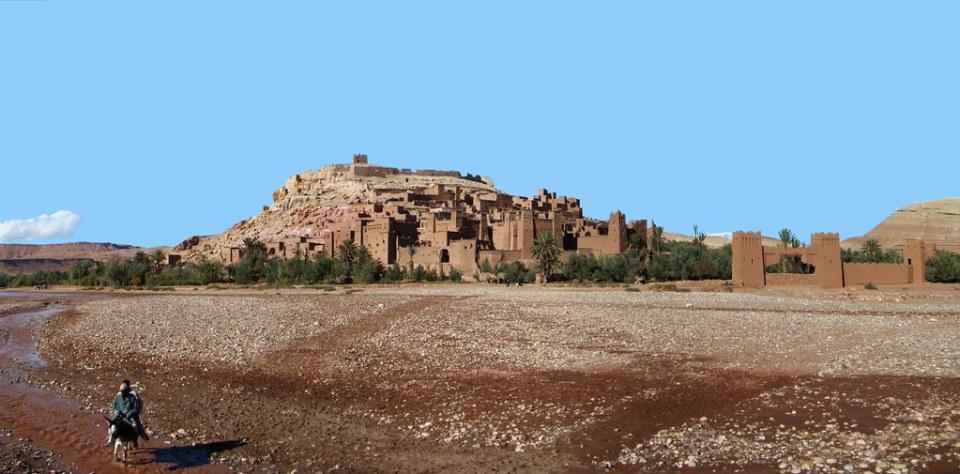 vista de ciudad fortificada Kasbah Ait Ben Haddou Ouarzazate Marruecos 11