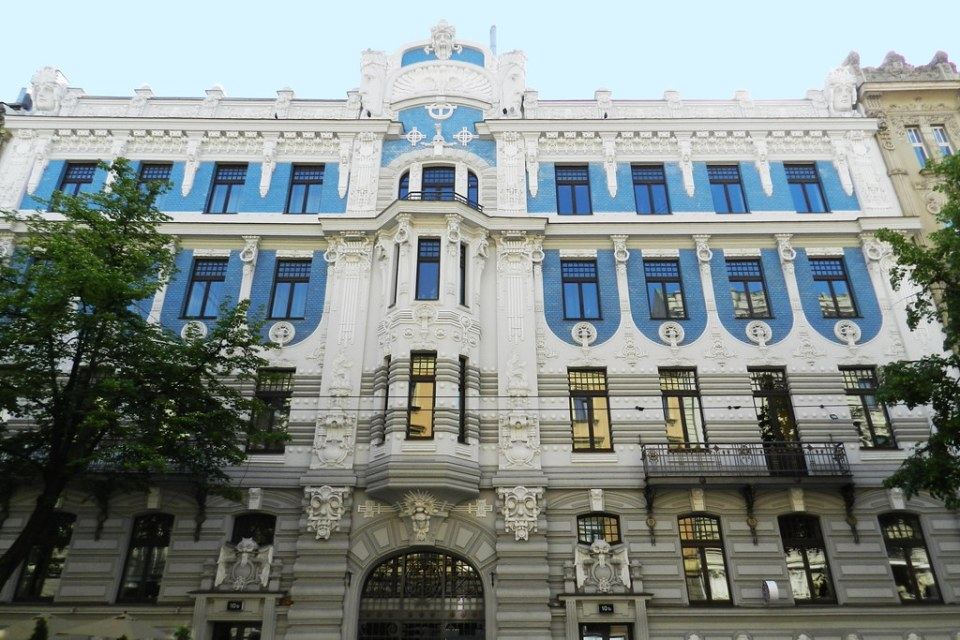 edificio Art Nouveau Riga Letonia 02