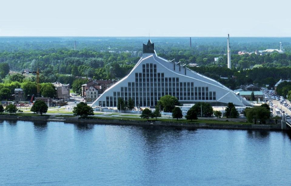 edificio Biblioteca Nacional de Letonia Riga Letonia 01