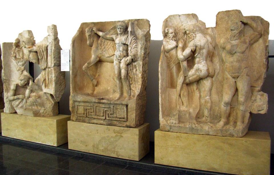 Belerofonte y Pegaso Relieves de Sebasteion Museo de Afrodisias Turquia 71
