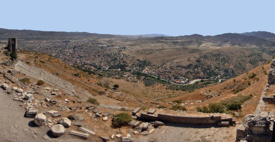 Teatro de Pérgamo y vistas desde la Acrópolis Turquía 29