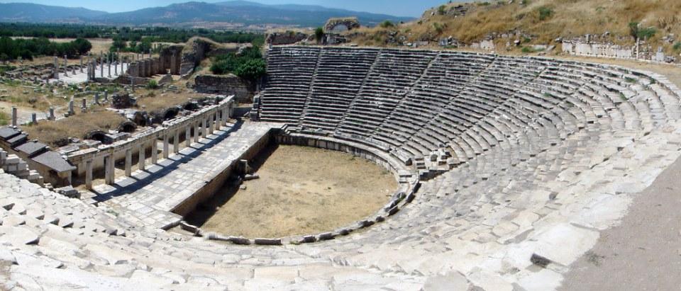 vista del Teatro Romano Afrodisias Turquía