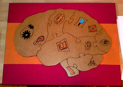 Puzzle du cerveau de Cogni'Junior fait par Bruno Boyer.