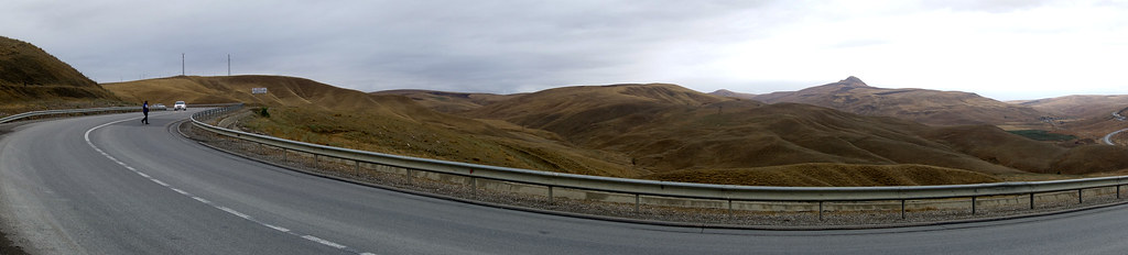 Most of Azerbaijan was mountains and forests but we spent about 70km in the desert and dunes before arriving in Baku.