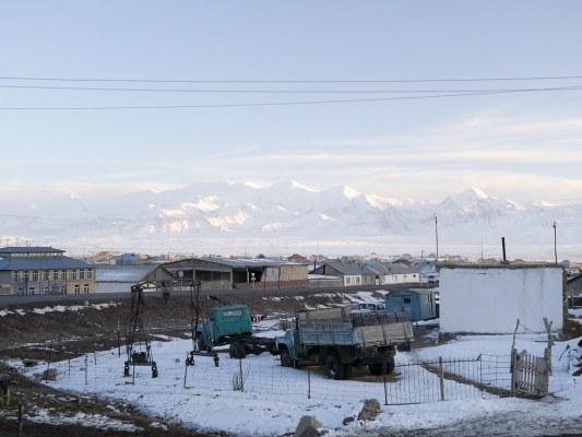 Tajikistan in the background