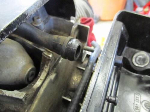 Crankcase Breather Hose Detail