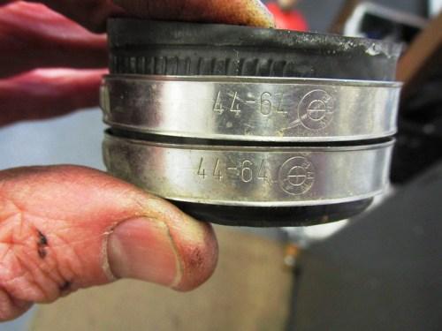 Cylinder Intake Spigot Strap Detail