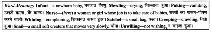 NCERT Solutions for Class 9 English Literature Chapter 10 The Seven Ages 2