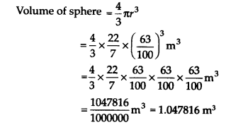 NCERT Solutions for Class 9 Maths Chapter 13 Surface Areas and Volumes Ex 13.8 Q1a