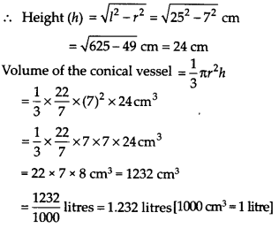 NCERT Solutions for Class 9 Maths Chapter 13 Surface Areas and Volumes Ex 13.7 Q2