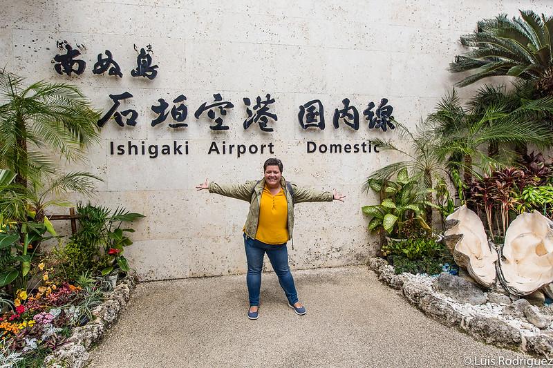 Laura disfrutando de haber llegado a Ishigaki