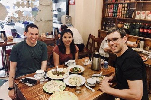 Family style restaurant in Shanghai with David!
