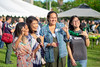 School of Communications graduates (2nd left – right) Adara Pineda, Ashley Adriano and Tracy Kim celebrate with sophomore Liza Marie Corotan at the University of Hawaii at Manoa College of Social Sciences Aloha Celebration on Friday, May 10.