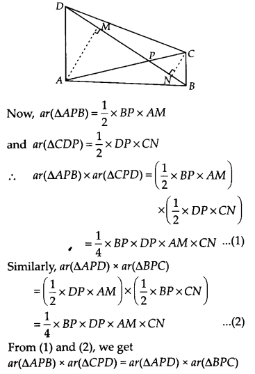 NCERT Solutions for Class 9 Maths Chapter 9 Areas of Parallelograms and Triangles Ex 9.4 A6
