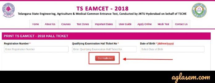 TS EAMCET 2019 Admit Card