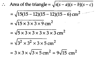 NCERT Solutions for Class 9 Maths Chapter 12 Heron's Formula Ex 12.1 Q6