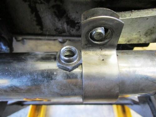 Brown Side Stand Supplied Shoulder Nut Detail