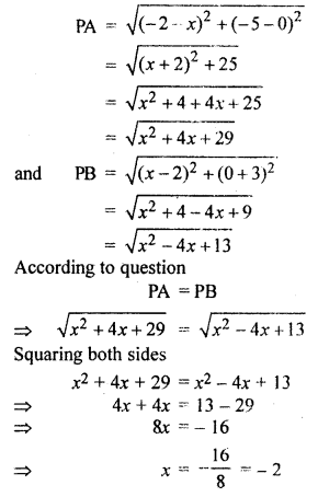 RBSE Solutions for Class 10 Maths Chapter 9 Co-ordinate Geometry Q.11