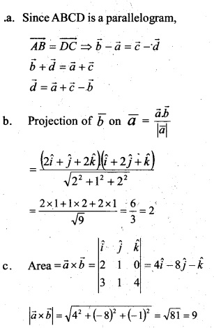 Plus Two Maths Chapter Wise Previous Questions Chapter 10 Vector Algebra 11