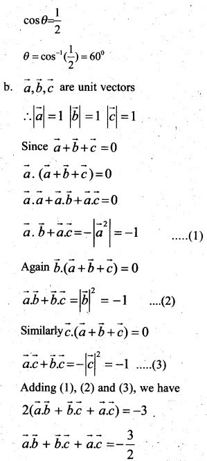 Plus Two Maths Chapter Wise Previous Questions Chapter 10 Vector Algebra 6
