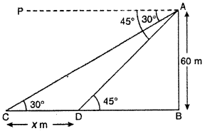 RBSE Solutions for Class 10 Maths Chapter 8 Height and Distance Q.17.1