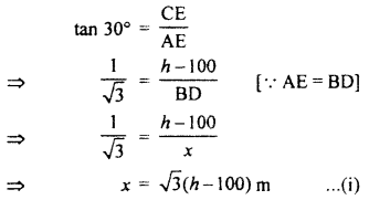 RBSE Solutions for Class 10 Maths Chapter 8 Height and Distance 3Q.6.2