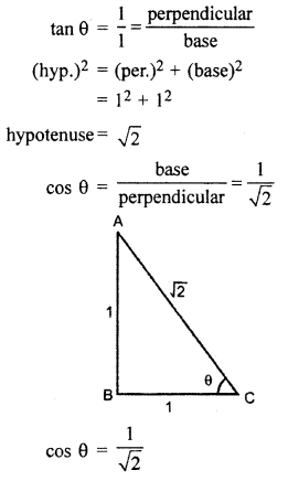 RBSE Solutions for Class 10 Maths Chapter 6 Trigonometric Ratios Q.8