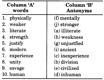 RBSE Class 9 English Grammar Antonyms and Synonyms 9