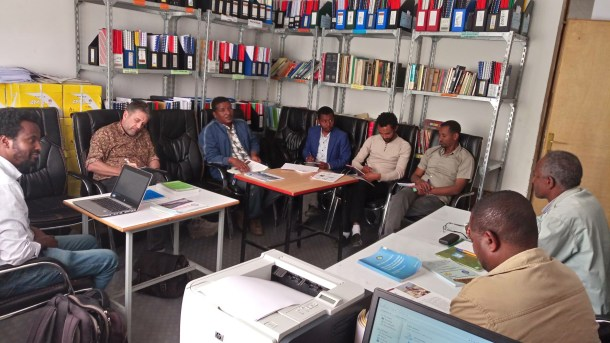 Discussion with Africa RISING partners from Debre Birhan University in Debre Birhan town, Amhara region
