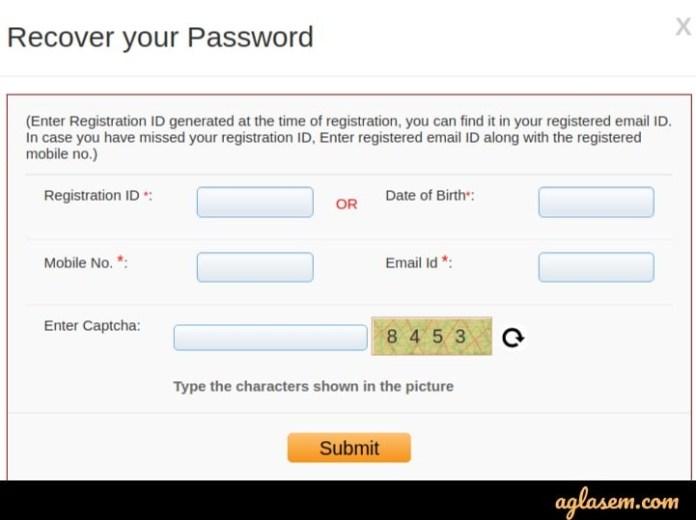 AIIMS MBBS Forgot Password