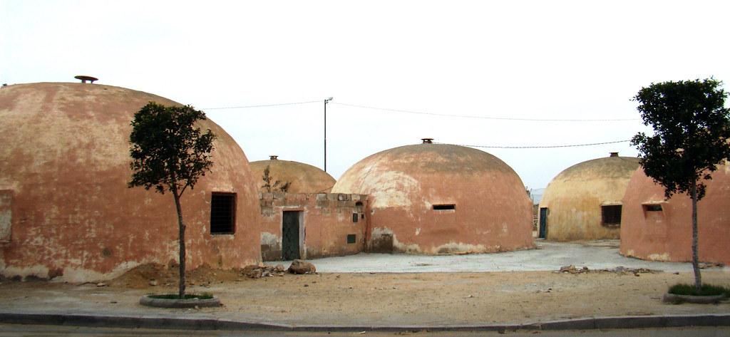 casa tipica saharaui con cupula El Aaiun Sahara 29