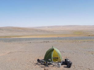 Nice spot for the night. Felt like camping on Mars.