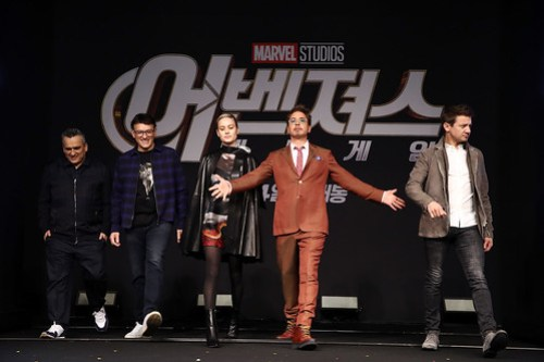 Marvel Studios' 'Avengers: Endgame' South Korea Premiere - Press Conference In Seoul