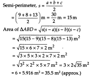 NCERT Solutions for Class 9 Maths Chapter 12 Heron's Formula Ex 12.2 A1a