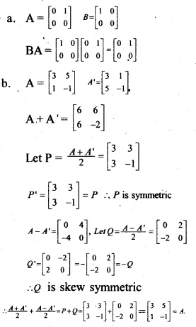 Plus Two Maths Chapter Wise Previous Questions Chapter 3 Matrices 6
