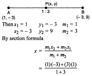 RBSE Solutions for Class 10 Maths Chapter 9 Co-ordinate Geometry Q.3.1