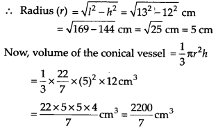 NCERT Solutions for Class 9 Maths Chapter 13 Surface Areas and Volumes Ex 13.7 Q2a