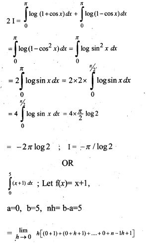 Plus Two Maths Chapter Wise Previous Questions Chapter 7 Integrals 24