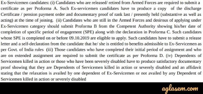 IBPS Clerk Ex-servicemen