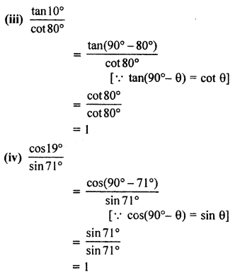 RBSE Solutions for Class 10 Maths Chapter 7 Trigonometric Identities Q.1.3