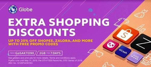 Get FREE Promo Codes from Globe Prepaid GoSAKTO90 - Shopping (Shopee)