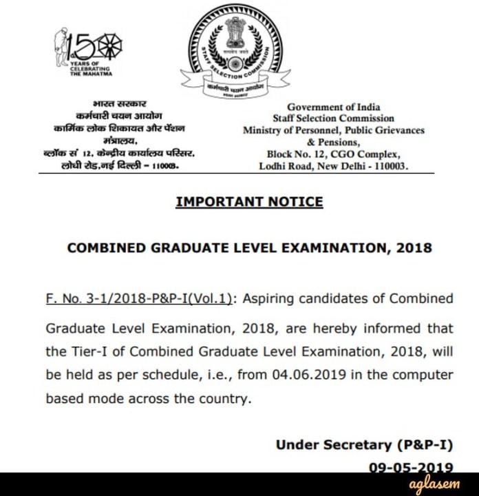 Notice Regarding Tier-I Exam Date
