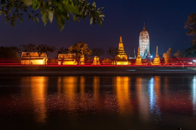 Ayutthaya / Chao Phraya - Amphoe Phra Nakhon Si Ayutthaya, Chang Wat Phra Nakhon Si Ayutthaya, Thaïlande - 19/02/2018 18h54