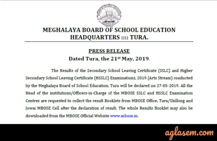 MBOSE 12th Arts Result 2019